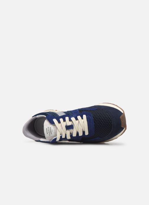 Trainers Gant Davenport Blue view from the left